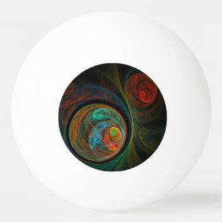 再生の青い抽象美術 卓球ボール