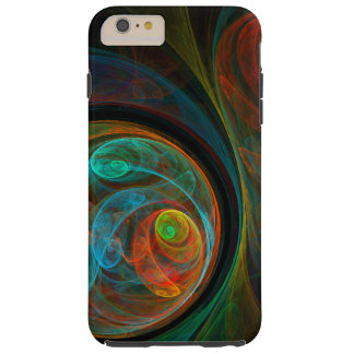 再生の青い抽象美術 TOUGH iPhone 6 PLUS ケース