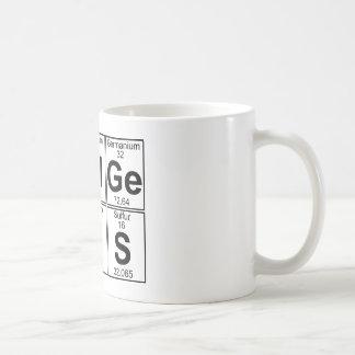 再Al GE NI U S (実質の天才) -十分に コーヒーマグカップ