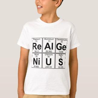 再Al GE NI U S (実質の天才) -十分に Tシャツ