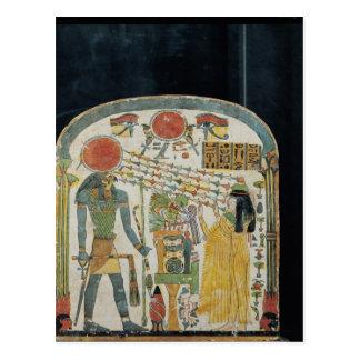 再Horakhtyの前の女性のTaperet石碑 ポストカード
