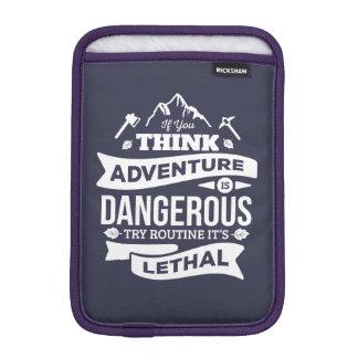 冒険が危なければ、ルーチンは致命的なタイプエラーです iPad MINIスリーブ