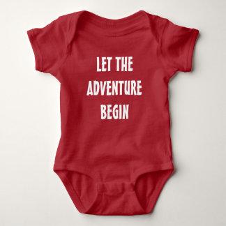 冒険が新生児のワイシャツを始めるようにして下さい ベビーボディスーツ