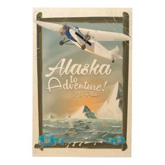 冒険するべきアラスカ! ウッドウォールアート