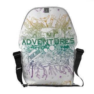 冒険のために続いて下さい! それは時間です! メッセンジャーバッグ