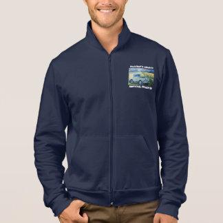"""冒険のフリースのジャケット。 """"天候自由""""のモットー ジャケット"""