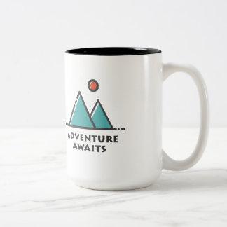 冒険はツートーンコーヒー・マグを待ちます ツートーンマグカップ