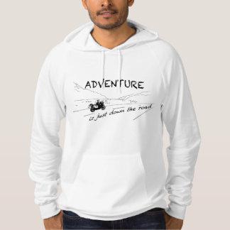 冒険は道-フード付の人の下にちょうどあります パーカ