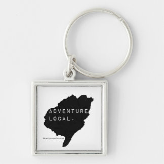 「冒険支部」。 Keychain シルバーカラー正方形キーホルダー