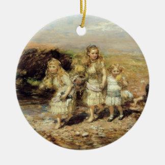 冒険1883年(キャンバスの油) セラミックオーナメント