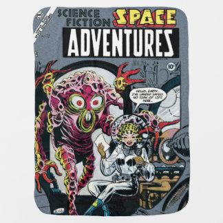 冒険#12のおもしろいな50sレトロのサイファイの漫画の間隔をあけて下さい ベビー ブランケット