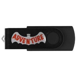 冒険Slipperywindow著暗い夜こうもり USBフラッシュドライブ