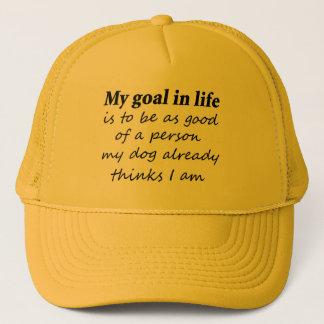 冗談犬はギフトのことわざのノベルティのトラック運転手の帽子を引用します キャップ