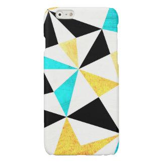 写実的で汚い三角形のデザイン 光沢iPhone 6ケース