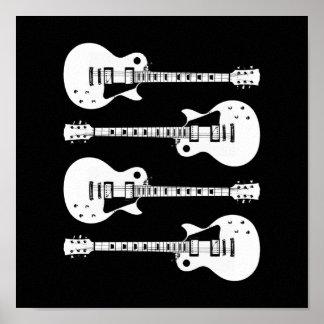 写実的なエレキギター ポスター