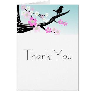 写実的なカスタマイズ可能なすずめの鳥の桜 カード