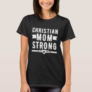 写実的なクリスティーナのお母さんの強い女性 Tシャツ