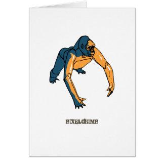 写実的なサル カード