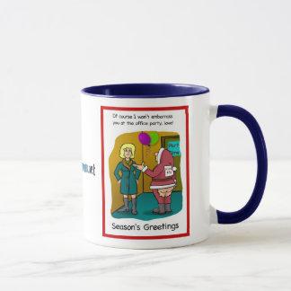 写実的なジャッキのクリスマスカード、写実的なジャッキ… マグカップ