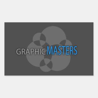 写実的なマスターのラップトップのステッカー 長方形シール