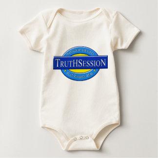 写実的な幼児ティー- TrutHSessioNのロゴ01c ベビーボディスーツ