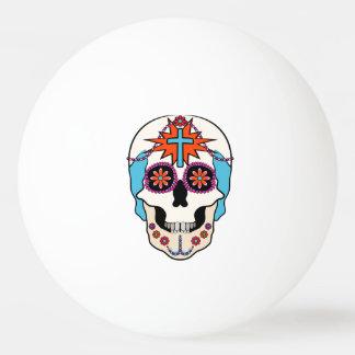 写実的な砂糖のスカル 卓球ボール