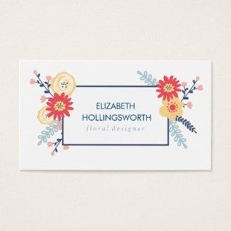写実的な花の名刺 名刺