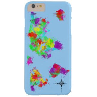 写実的な虹によって着色される世界地図 BARELY THERE iPhone 6 PLUS ケース