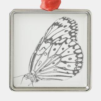 写実的な蝶 メタルオーナメント