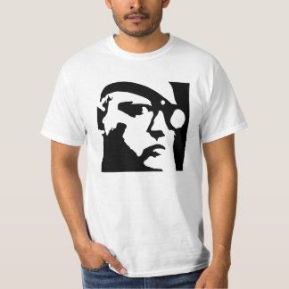 写実的な顔メンズTシャツ Tシャツ
