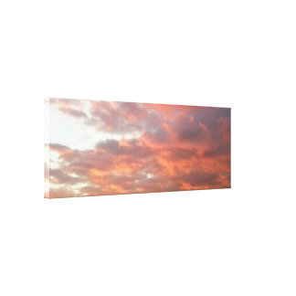 写真からの日没の空のキャンバスプリント キャンバスプリント