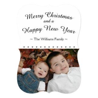 写真が付いているカスタムな家族のクリスマスカード カード
