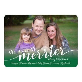 写真が付いているクリスマスカードの期待 カード
