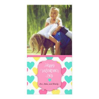 写真が付いているハッピーバレンタインデーのカスタム・カード カード