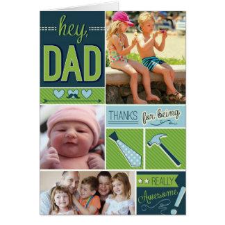 写真が付いている名前入りな父の日カード カード