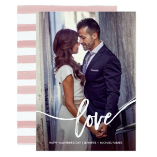 写真とのシンプルなバレンタインの愛 カード