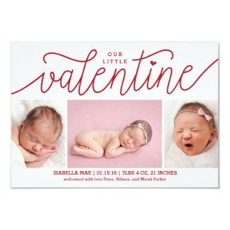 写真とのバレンタインデーの誕生の発表 カード
