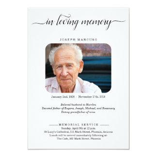 写真との名前入りな葬儀の発表 カード
