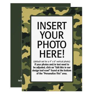 写真との軍のカムフラージュの誕生日 カード