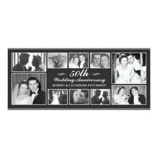 写真のお祝い第50の結婚記念日 10.2 X 23.5 インビテーションカード