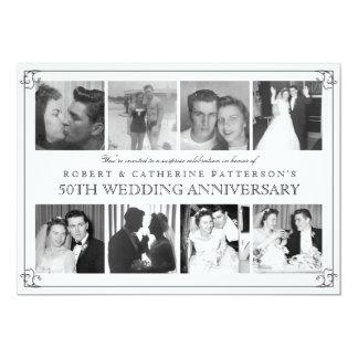 写真のお祝い第50の結婚記念日 12.7 X 17.8 インビテーションカード