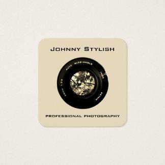 写真のカメラレンズの芸術的なカバー スクエア名刺