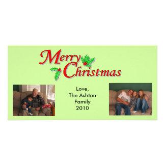写真のクリスマスカード カード