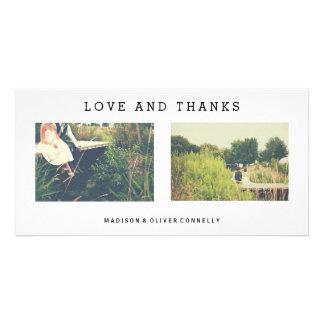写真のコラージュを結婚するモダンな愛および感謝 カード