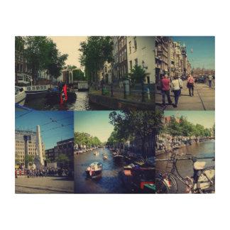 写真のコラージュアムステルダム1 ウッドウォールアート