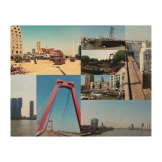 写真のコラージュロッテルダム2 ウッドウォールアート