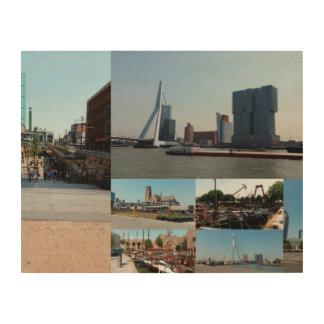 写真のコラージュロッテルダム3 ウッドウォールアート
