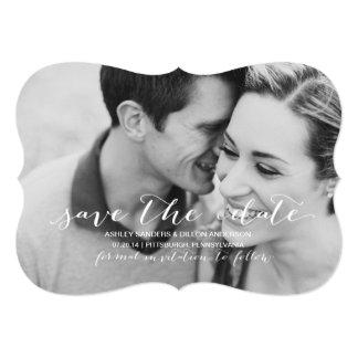 写真のセーブ・ザ・デート案内 カード