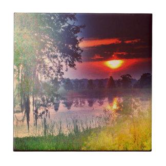 写真のタイルのLowcountryの陶磁器の日の出 タイル