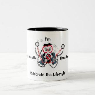 写真のダイバーのコーヒー・マグ ツートーンマグカップ